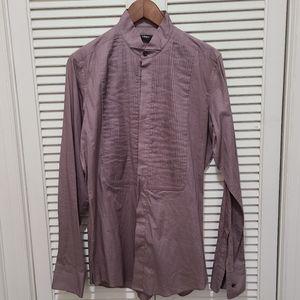 Z Zegna tuxedo button down shirt